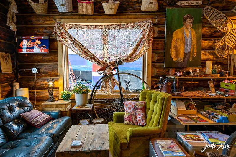 Charming interior of North Shore Cyclery