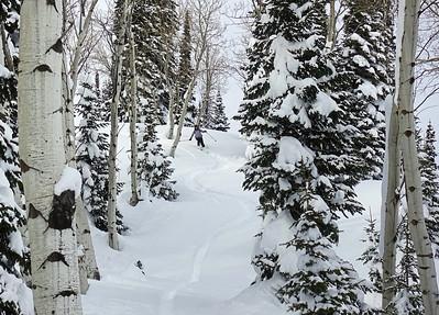 Exploring the Tetons on skis