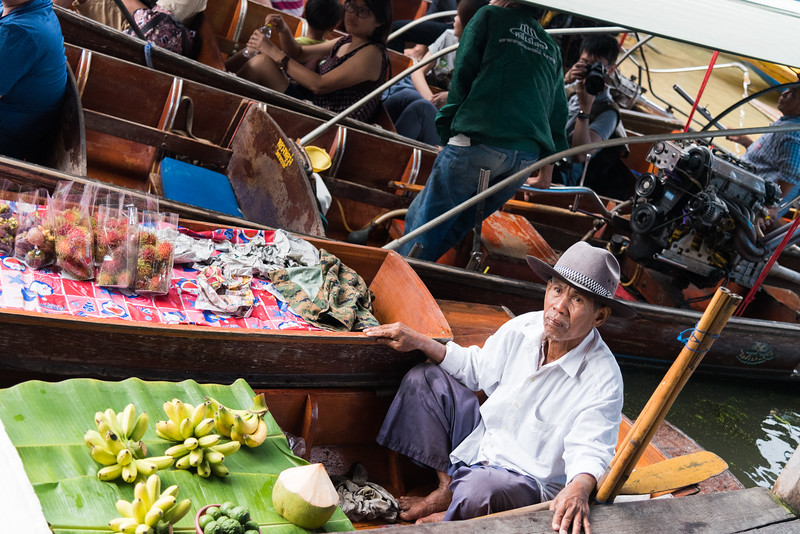 Dec 2017 -  The Damnoen Saduak Floating River Market, Bangkok, Thailand