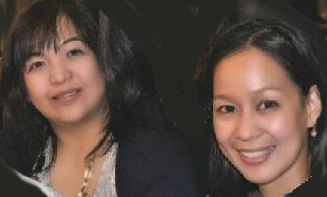 . Michelle Estrera, left and Neriza Fojas are pictured in a handout photo from Community Regional Medical Center, the Fresno hospital where the two women worked as nurses. Both died Saturday night when the limousine in which they were passengers suddenly burst into flames as it was being driven across the San Mateo Bridge en route to a bridal shower party in Fojas\' honor. Three other women in the party of nine also died and the survivors suffered varying degrees of injury and some were hospitalized. The cause of the fire event is still being investigated. (Community Regional Medical Center)