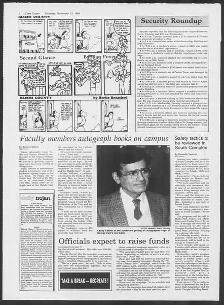 Daily Trojan, Vol. 102, No. 52, November 13, 1986