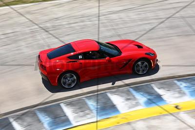 23 Red Corvette