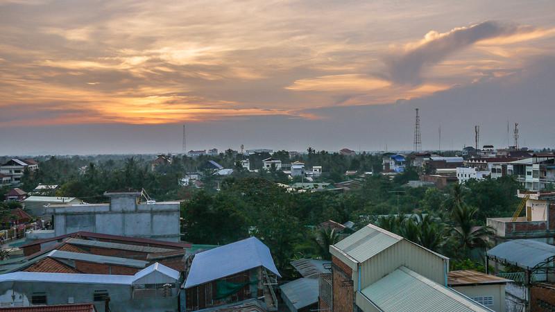 Sunrise over Battambang, Cambodia