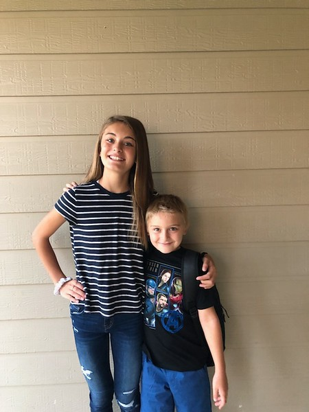 Elenora and Blake | 7th grade and 2nd grade | Stiles Middle School and Rutledge Elementary