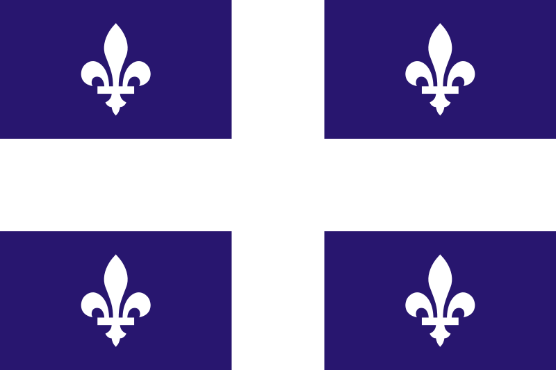 The flag of Quebec.