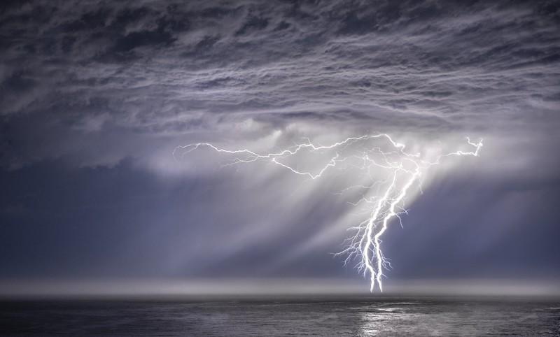 Lightning Storm, Study # 3, Sea Ranch, California