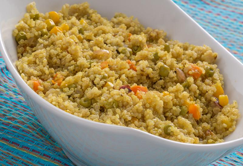 Quinoa Salad in a Serving Dish