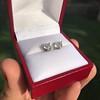 1.85ctw Old European Cut Diamond Stud Earrings 15
