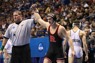 Rutgers at the Nationals, Anthony Ashnault ALL AMERICAN at 141, Bill Smith, Anthony Perotti, Ken Theobold , S. Delvechio