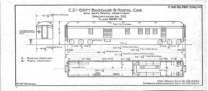 UP Passenger Diagrams, 1926-1938