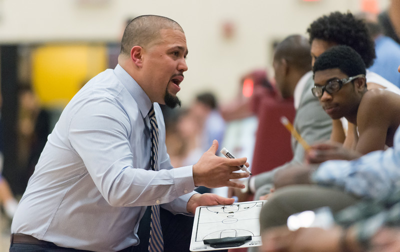 01/08/19  Wesley Bunnell | Staff  New Britain boys basketball defeated Rocky Hill in a home game on Tuesday night. Head Coach Kurt Reis.