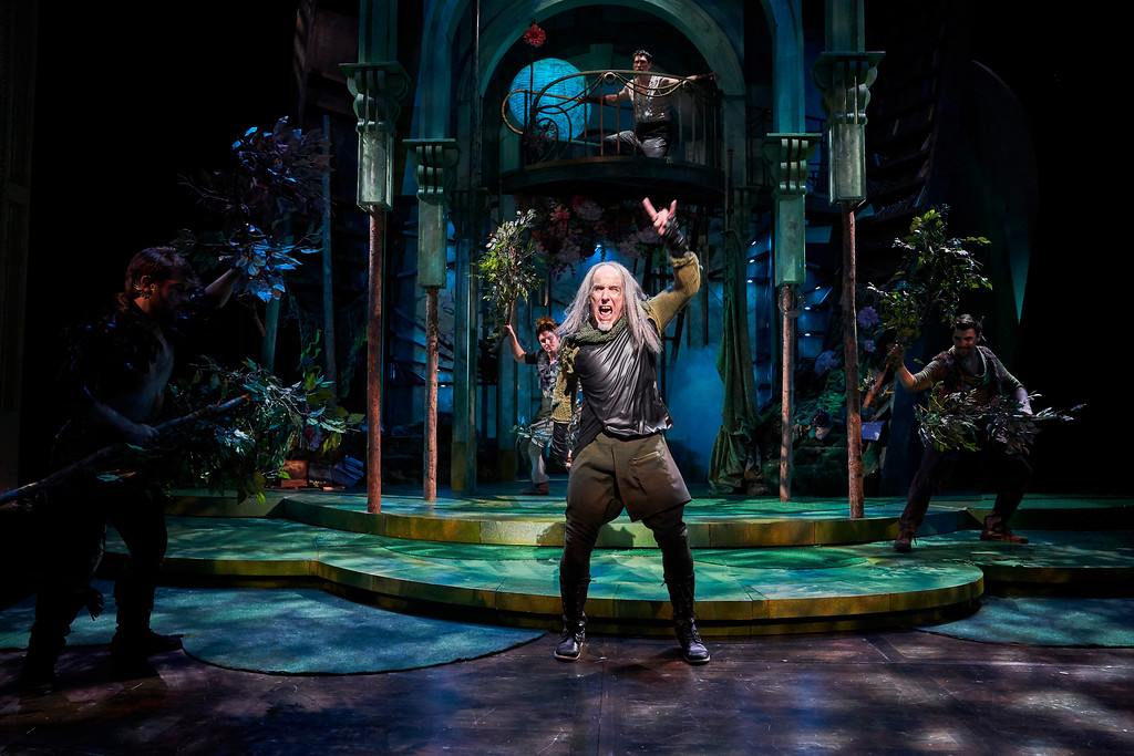 . M.A. Taylor, as Puck, performs in the Great Lakes Theater production of �A Midsummer Night�s Dream.� he show continues through Nov. 5 at Playhosue Square\'s The Hanna Theatre. For more information, visit www.greatlakestheater.org. (Roger Mastroianni)