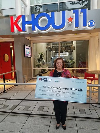 KHOU Channel 11 Charity Check Surprise!