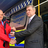 Gibraltar – 3rd December 2014 – Gibraltar Government Minister Steven Linares today officially handed over to the Director of  the Emergency Contingency Plan unit, Leslie Edmonds the keys of the newly acquired inter-agency Command Support Unit vehicle at a the Royal Gibraltar Police Rosia Compound in Gibraltar. The vehicle, which will act as a key control centre in major incidents is the latest acquisitions as a new contingency emergency plan is introduced by the Government. The inter-agency vehicle, run primarily by the Royal Gibraltar Police, will see the mobile unit bringing ground command control between emergency services together. Fully equipped, with satellite links, thermal imaging cameras, control and radio facilities the vehicle is expected to act as the main mobile unit deployed to major incidents. The unveiling of the vehicle took place just hours before a planned live aircraft disaster exercise which will see the vehicle tested in real live conditions for the first time. The unit is among the key areas of assessment in the exercise. The Civil Aviation Authority will today be assessing the essential services response to a major aircraft disaster as part of the emergency assessments undertaken to licence the use of the airfield for commercial use.