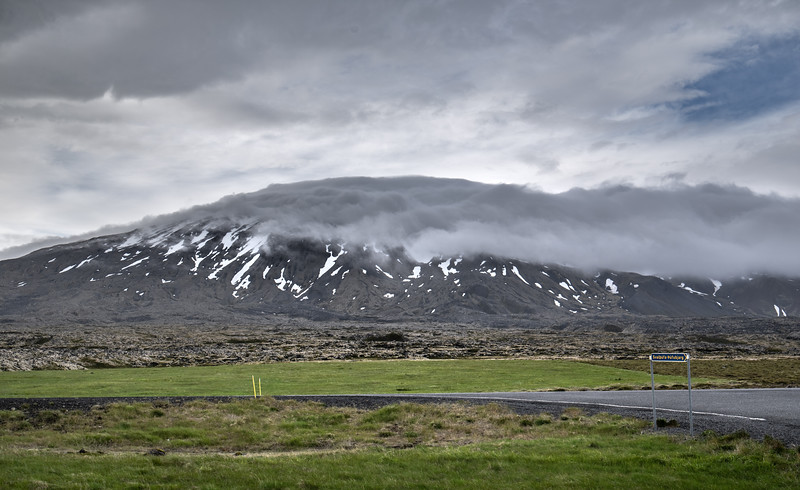 Fog on the Mountain in Iceland   Photography by Wayne Heim