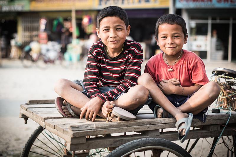 Two boys in Damak