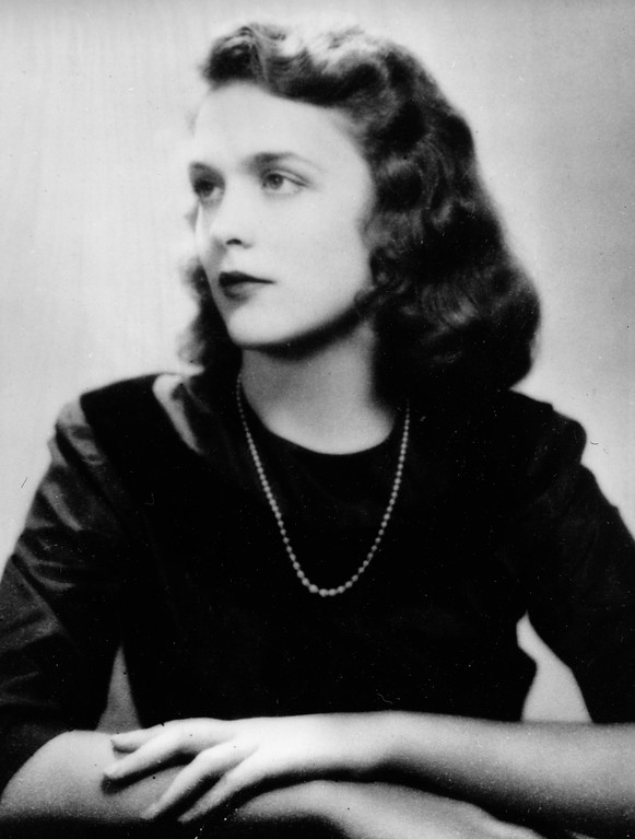 . Barbara Pierce, the future Barbara Bush, is shown in her graduation photo from Ashley Hall, a finishing school in Charleston, S.C., in 1943.  (AP Photo)