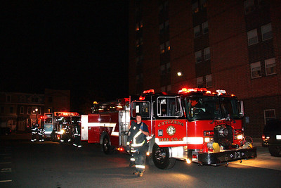 Smoke Response, ABC High Rise, Tamaqua (11-20-2011)