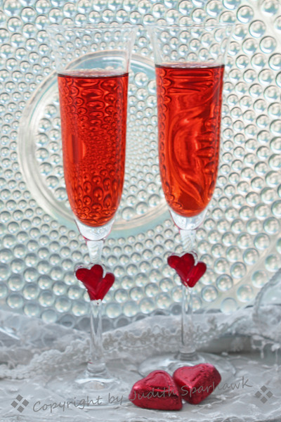 Valentine's Toast for Two ~ Happy Valentine's Day!  Chocolate and bubbly...celebrate!