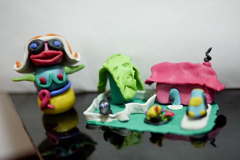 Clay figures