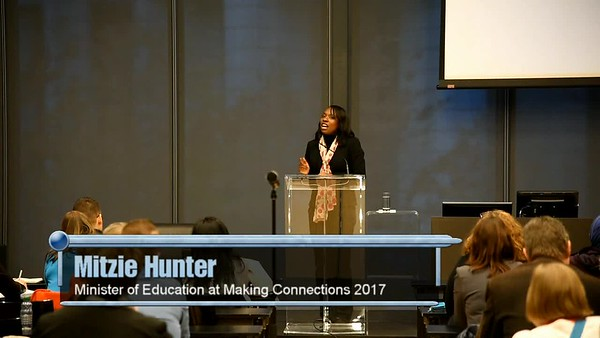 PM Keynote Speaker - Mitzie Hunter, Minister of Education for Ontario