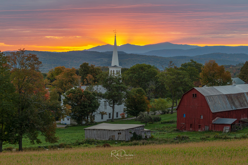 Peacham Fall Sunrise II