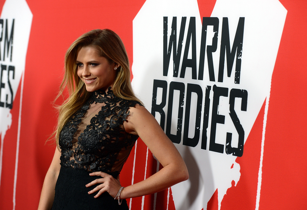 "Description of . Actresss Teresa Palmer arrives for the Los Angeles premiere of Summit Entertainment\'s ""Warm Bodies\"" at ArcLight Cinemas Cinerama Dome on January 29, 2013 in Hollywood, California.  (Photo by Kevin Winter/Getty Images)"