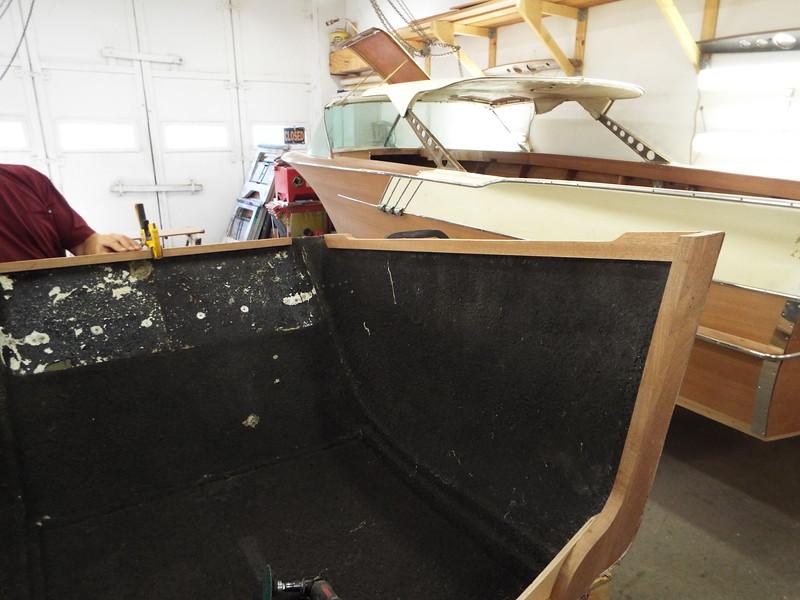 Starboard side framing fit.