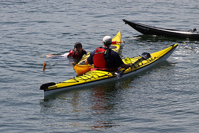 Charles River Kayak Wet Exit Drills Marblehead