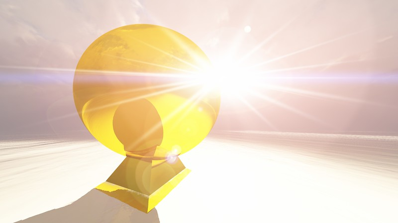 Gold Statue 12 : A Computer Generated Image from Daily Animation