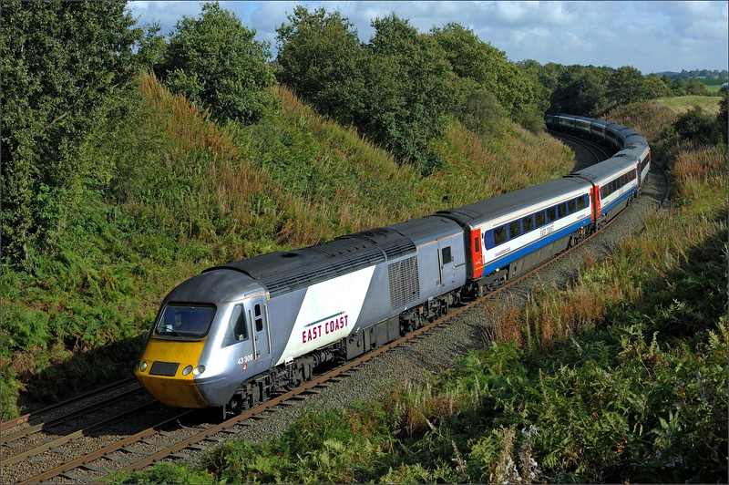 2011 09 25.43306 on a diverted ECML service at Cowran Cutting.