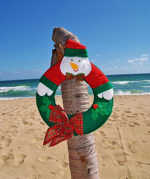 Snowman on Tree.JPG