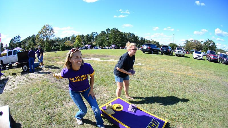 10/1/2011 ECU vs North Carolina  Stephanie, Jess