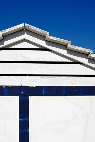 Blue and White Beach Hut, Costa Brava