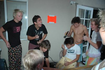 2006 Boy Swim Team Shave Party