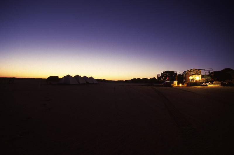 Nächtigung in der Nubischen Wüste
