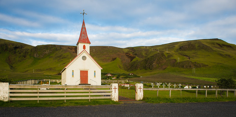 Church and Graveyard near Vik