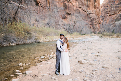 Kate & David Elopement in Zion