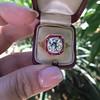 3.12ct Old European Cut Diamond Ruby Halo Ring, GIA L  24