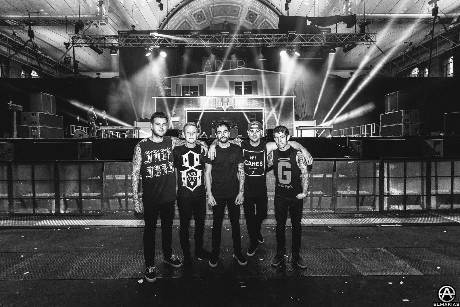 A Day To Remember with The House Party Tour setup