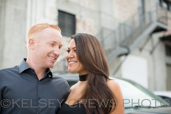 Jennifer and Ryan Funk Zone Engagement Session