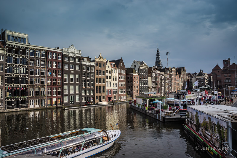 Canal Boat Tour, Amsterdam - July 2014