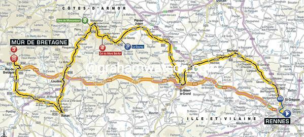Tour de France Stage 8: Rennes > Mur-de-Bretagne, 181kms