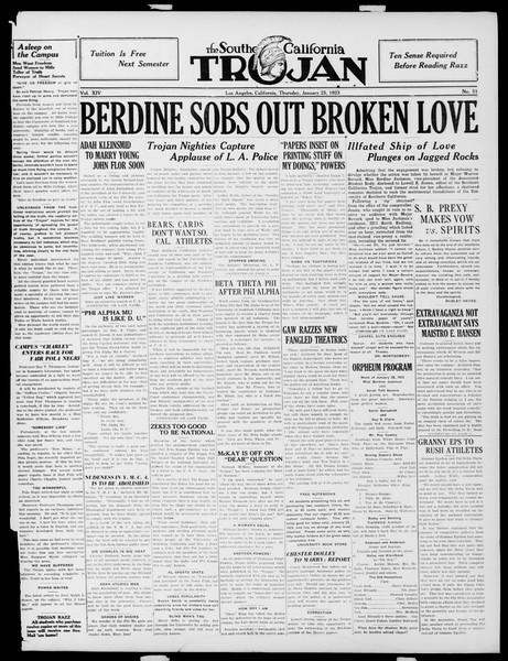 The Southern California Trojan, Vol. 14, No. 51, January 25, 1923