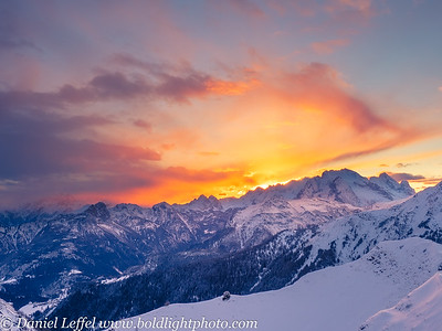 Italy Dolomite Mountains Winter
