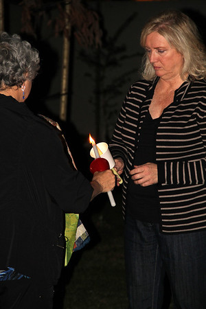 Ana Falley's Candle Lighting Oct. 29,  2012