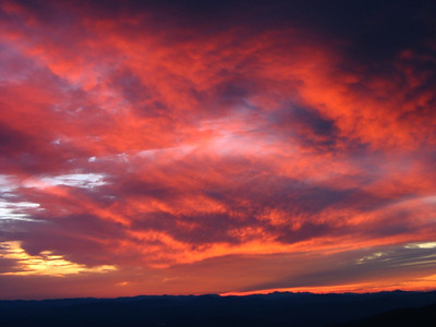 Sunset on Mt. Methodius 08092007