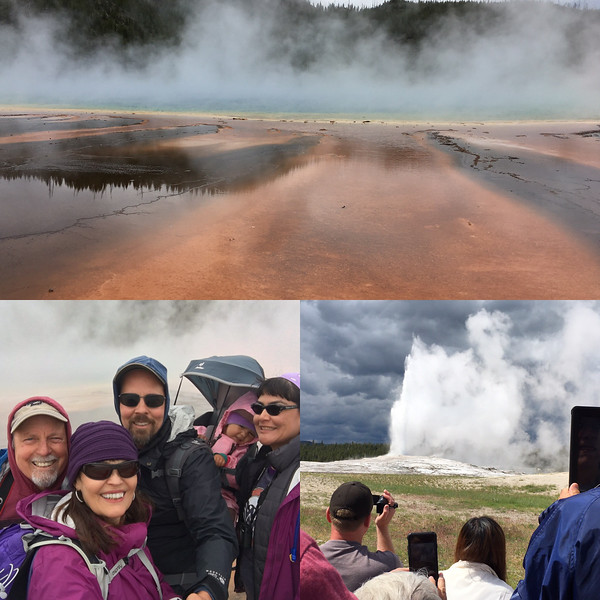 Grand Prismatic, family & old Faithful