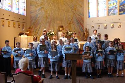 2012-12-14 Choir Chateau Notre Dame Seminary