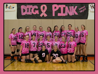 """Dig Pink"" Volleyball Game"
